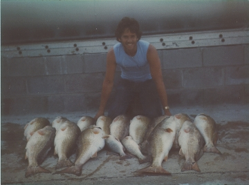 Old Picture of Monster Bull Redfish and I